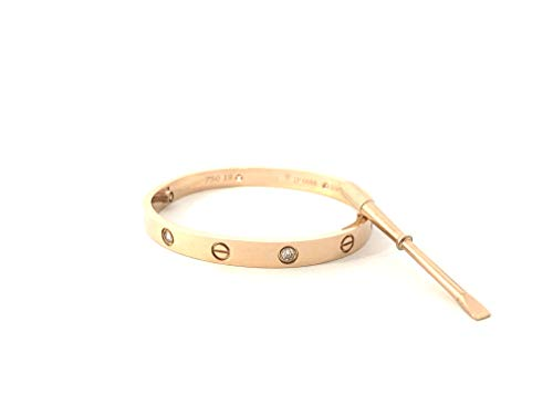 - MAGICLOOK Titanium Steel Bracelet Titanium Steel Screws Designs Bracelets Jewelry 18 K Rose Gold Color Bangle Bracelet Women's Fashion Love Bracelet with CZ Stone Love Bangle