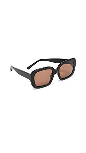 Elizabeth and James Women's Haley Square Sunglasses, Black, 53 mm by Elizabeth and James