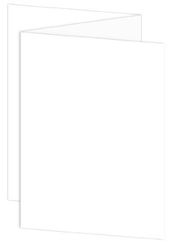A7 LCI Smooth Radiant White Blank Cards - ZFold, 80lb Cover, 25 Pack
