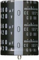 Electrolytic Capacitor, Snap-in, 2200 µF, 200 V, GU Series, 3000 hours @ 105°C, ± 20%