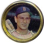 1964 Topps Metal Coins (Baseball) Card# 7 Frank Malzone of the Boston Red Sox VGX Condition