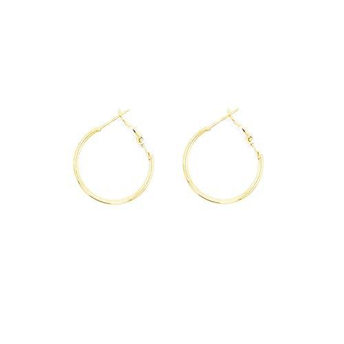 Small Tiny Basketball Hula Hoop Earrings for Women Men - 25mm Mini Thin Hoops(Gold, 25)