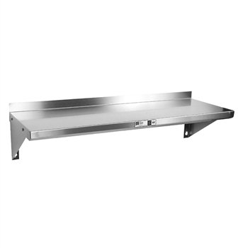 JOHN BOOS BHS1236 Wall-Mount Shelves, Stainless Steel, 12'', 36'' by John Boos
