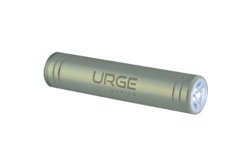 Urge Basics 2600mAh Flash Tube Pro Portable Battery Charger for Smartphones - Retail Packaging - Silver - Urge Basics Portable Power