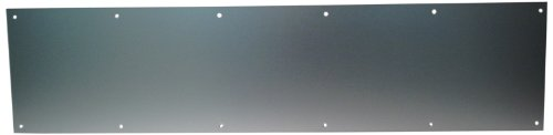 "Don-Jo 90 Metal Kick Plate, Satin Anodized Aluminum Finish, 30"" Width x 10"" Height, 3/64"" Thick"