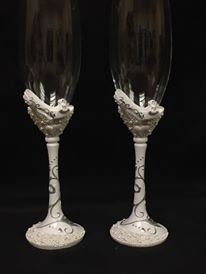 Belle of the Ball Shoe Design Toasting Glasses Set for Sweet 16, Birthdays, Mis Quince, Wedding