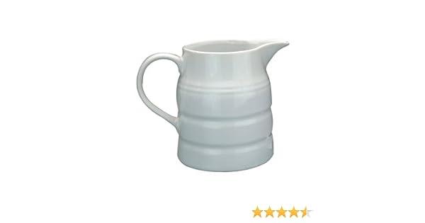 Jarra de porcelana fina color blanco para crema o leche, 236,5 ml ...