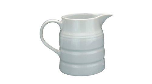 Jarra de porcelana fina color blanco para crema o leche, 236,5 ml