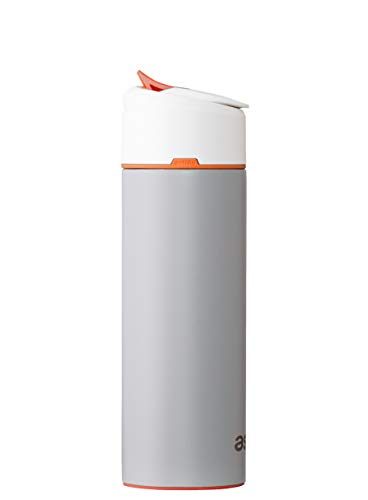 astrea ONE Filtering Water Bottle, Gray with Sunset Orange Accent (NSF53 ()