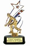 "Patriot Bocce Trophy, 12"" high, with engraving"