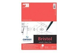 CANSON 100 lb/260g Foundation Bristol Smooth Pad, 19 x 24', 15 Sheets by Canson Inc.
