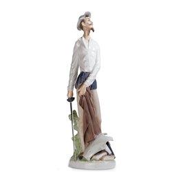 Lladro Porcelain Figurine Quixote Standing by Lladro