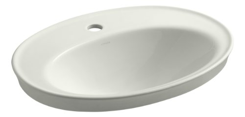 KOHLER K-2075-1-NY Serif Self-Rimming Bathroom Sink with Single-Hole Faucet Drilling, Dune ()