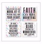 Faith Wonderful Joy Ahead 4 x 4 Inch Tabletop Coasters Gift Boxed Set of 4