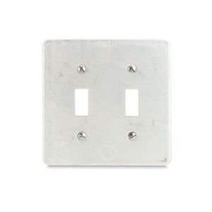 Appleton FSK-2TS Cover for Toggle Flush Switches, 2 Gang, Steel