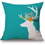 16 X 16 Inches / 40 By 40 Cm Deer Cushion Cases ,each Side Ornament And Gift To Bf,bench,sofa,kids Girls,kids Room,deck Chair
