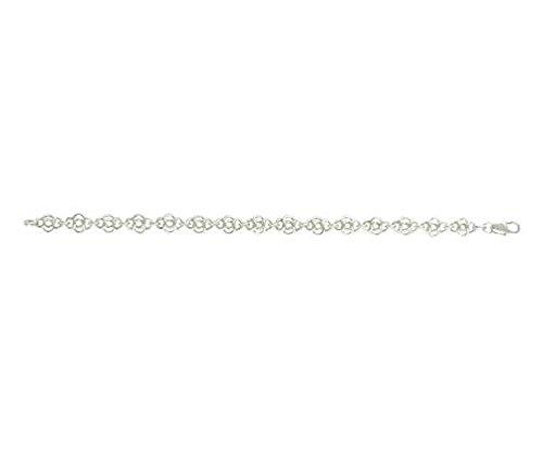 Argent sterling celtique Bracelet 21,6cm/21cm