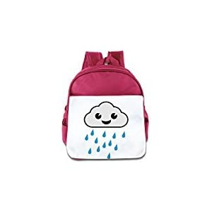 WLF Girl's And Boy's Children Kid's Backpack Pre School Bags Package Comfortable Cloud Regen Bags Pink