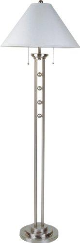 S.H. International Silver Metal Floor Lamp 63
