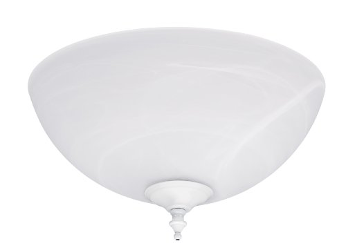 Hunter 21828 Builder Swirled Marble Light Bowl with White and Brushed Nickel Cap and Finials