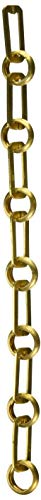 RCH Hardware CH-10-PB Decorative Polished Solid Brass Chain for Hanging, Lighting-Rectangular Cut Edge and Unwelded Links (1 Foot) ()