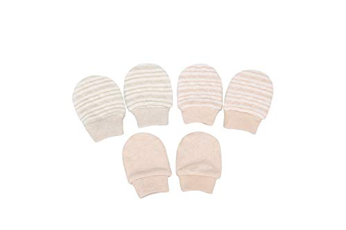 (Folamer Baby Mittens Cotton No Scratch Gloves for 0-6 Months Newborn 3 pairs)