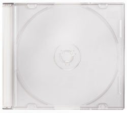 (Mediaxpo Brand 100 Slim White Color CD Jewel Cases)
