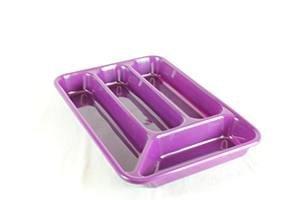 De plástico 4 compartimento cajonera con divisiones para cubiertos caja para bandeja tenedor cuchara