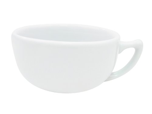 14 Ounce Cappuccino Cup - CAC China RCN-56 Clinton Rolled Edge 4-3/4-Inch Super White Porcelain Cappuccino Cup, 14-Ounce, Box of 36