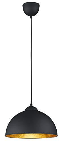 Reality Lmpara colgante E27, Negro y plateado