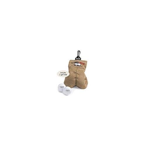 My Sack – It Takes Balls to Golf Gag Gift – Risque Ball Sack Holder – Included 2 Engraved Golf Balls