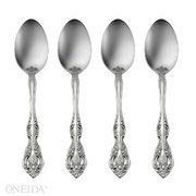 (Oneida Michelangelo Fine Flatware Set, 18/10 Stainless, Set of 4 Teaspoons)