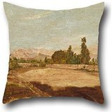 Mara Painting - artistdecor Pillowcase of Oil Painting Josà Mara Eguren - Lima's Countryside 18 X 18 Inches / 45 by 45 cm,Best Fit for Relatives,Christmas,car Seat,Couch,Festival,bf Each Side