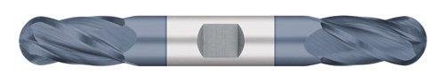 30 degree Helix 4 Flute AlTiN Coated 3//8 Cutting Length 1//8 Size 3//8 Shank Diameter 3-1//8 Overall Length Titan USA 3//8 Shank Diameter Double End Ball Nose 1//8 Size Titan TC13608 Solid Carbide End Mill Regular Length 3-1//8 Overall Length