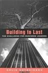 Building to Last, Colin Hutchinson, 1853834785