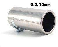 MP Executive Products Embout d/échappement universel en acier inoxydable E-Tech 55-65 mm