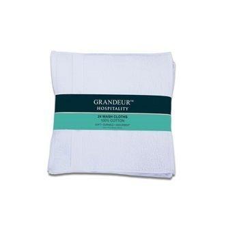 Grandeur Hospitality 100% Cotton Wash Cloths 24 Pack (Gold) (Gold)