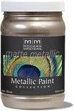 Mm221-06 6oz Warm Silver Matte Metallic Paint Collection