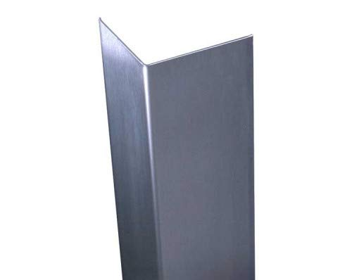 Stainless Corner Guard, 3'' X 3'' x 48'', Holes, No Breaks by RiversEdge Products (Image #2)