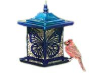 Classic Monarch Electric Blue Bird Feeder