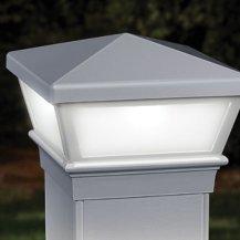 Deckorators Versacap Traditional Low Voltage Post Cap Light 4x4 White (Low Voltage Post Cap Lights)