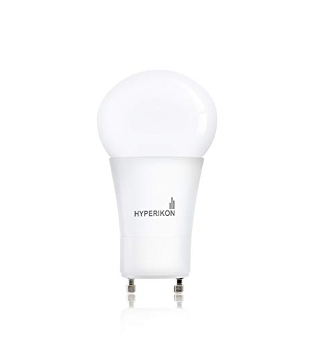 Hyperikon LED GU24 base, A19 Shape, 12W (60-Watt Equivalent), ENERGY STAR, Dimmable, 3000K (Soft White Glow), 820 Lumens, 340°, UL-Listed ()