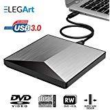 External DVD Drive for Laptop & Desktop | Unique Design, USB 3.0 External CD Drive | Portable CD/DVD Player & Burner with for Windows, Linux & Mac OS