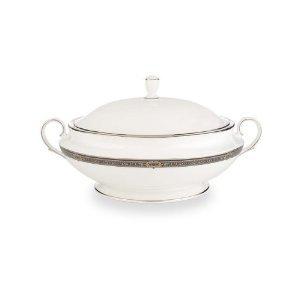 Lenox Vintage Jewel Covered Vegetable Bowl (Platinum Covered Bowl Round Vegetable)