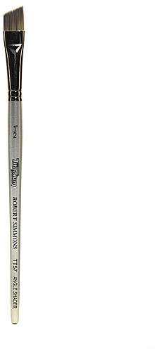 Robert Simmons Titanium Brushes Short Handle Single Stock (1/2 In.) - Angle Shader (TT57) 1 pcs sku# 1830479MA