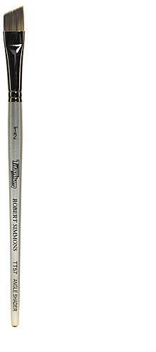 Robert Simmons Titanium Brushes Short Handle Single Stock (1/2 In.) - Angle Shader (TT57) 1 pcs sku# 1830479MA by Robert Simmons