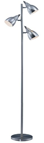 Park Madison Lighting PMF-4653-16 Incandescent Tree Floor Lamp with Fully Adjustable Shades, 15'' x 15'' x 65.5'', Satin Nickel Finish by Park Madison Lighting