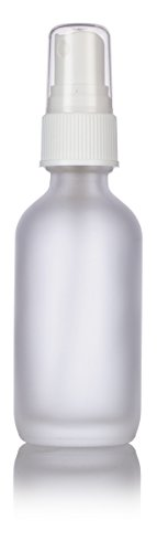 2 oz Frosted Clear Glass Boston Round White Fine Mist Spray Bottle (24 pack) + Funnel and Labels for essential oils, aromatherapy, food grade, bpa free by JUVITUS (Image #3)