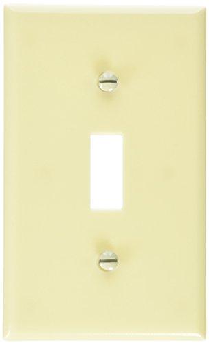 Leviton M01-86001-IMP 1 Gang Wallplates, Switch, Ivory, 10-Pack