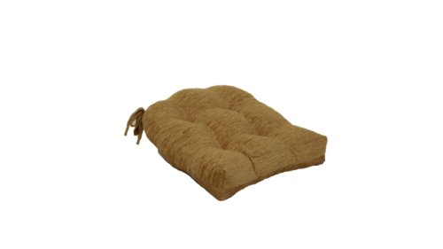 Brentwood 3439 Crown Chenille Tufted Chair Pad, Gold (Brentwood Cushions Chair)